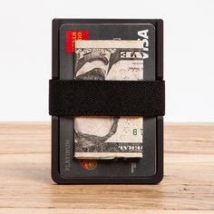 Machined Aluminum Wallet - Black