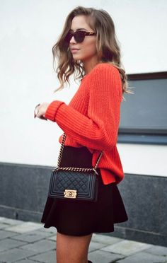 poppy sweater, flirt skirt, cc