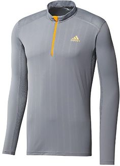 Adidas Men's Cabriolet Long Sleeve Zip Tee Running « Clothing Impulse. Once I get more fit this is what ill wear.