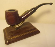 Vintage Antique Full Bent Panel Style Billiard Estate Briar Tobacco Smoking Pipe