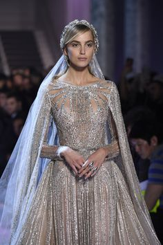See all the details from Elie Saab's Couture Spring 2018 collection. Elie Saab Couture, Couture Mode, Couture Fashion, Paris Fashion, Elie Saab Bridal, Ellie Saab Gowns, Bridal Wedding Dresses, Elie Saab Wedding Dresses, Ellie Saab Wedding