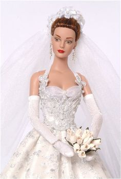 Barbie Bridal, Barbie Wedding Dress, Couture Wedding Gowns, Barbie Dress, Barbie Clothes, Bridal Gowns, Wedding Dresses, Chic Chic, Poppy Parker