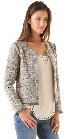 Obsessed with the subtle sparkle on this tweed jacket! @Shopbop