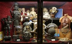 The Viktor Wynd Museum of Curiosities, Fine Art & Natural History contains an eclectic mix of exhibits including a 19th century human shrunked head