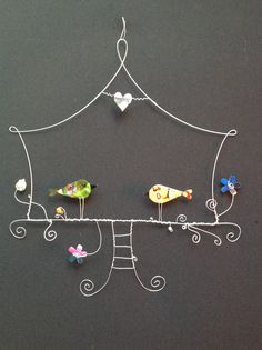 Wire art /Birds in Love