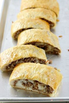 This Sausage Bread might just be the most versatile recipe in your recipe box! It's perfect as an appetizer, a weeknight dinner recipe, serve it on game day, or take it along on picnics or potlucks. Sausage Bread, Sausage Rolls, Gourmet Recipes, Bread Recipes, Cooking Recipes, Cooking Dishes, Pizza Recipes, Casserole Recipes, Cooking Tips
