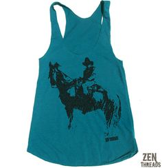 Womens COWBOY american apparel Tri-Blend Racerback Tank Top S M L (10 Color Options)