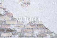 Fotobehang oude bakstenen muur - brick - wand • pixers.nl