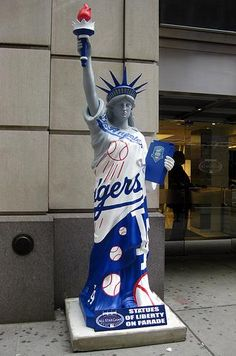 Los Angeles Dodgers Statue of Liberty. Dodgers Nation aa29b2655c01