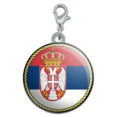 Flag of Serbia Stainless Steel Pet Dog ID Tag ** More info could be found at the image url. (Note:Amazon affiliate link)