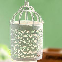 2017 New Elegant Appearance Vintage Candelabrum Candle Votive Holder Hanging Lantern Birdcage Home Decorative Birdcage(China (Mainland))