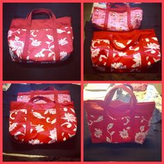Grama Teves made this medium 6 pocket tote bag using Hawaiian printed material