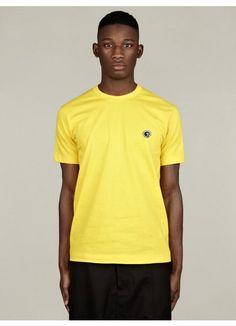 COMME des GARCONS SHIRT Men's Logo Yellow Cotton T-Shirt