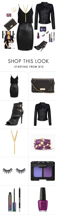 Edgy Classy by beautybyaliciamarie on Polyvore featuring TFNC, WithChic, Burberry, BERRICLE, NARS Cosmetics, Urban Decay and OPI