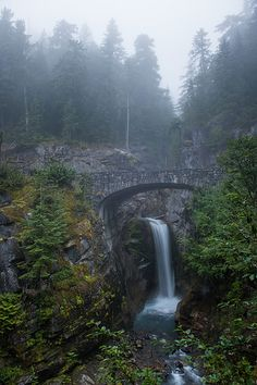 Christine Falls, Mount Rainier National Park / http://www.sleeptahoe.com/christine-falls-mount-rainier-national-park-2/