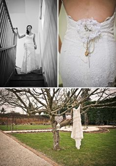 Wedding dress in a tree