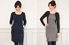 Heather Dress | Sew Over It | Live in knits? Then this is the sewing class for you! Versatile and super comfy made in snuggly jersey, the Heather Dress is sure to be a wardrobe staple.