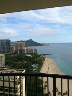 Diamond Head right out our room.