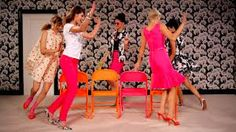 """Bachelorette or Passion Party game. Women sit in chairs in a circle (facing inward). The bachelorette will stand in the middle and ask sexually themed yes or no questions. When someone answers """"Yes"""" they move to the right. First guest to make it back to her original seat wins. This game results to women sitting on top of one another adding to the fun!"""