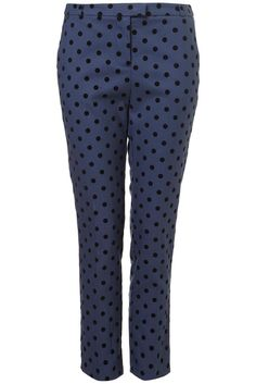 Topshop Spot Ankle Grazer Trousers