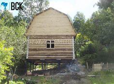 Фундамент на винтовых сваях КСАмет. Дом 6х6. Строительство на склоне. г. Калуга