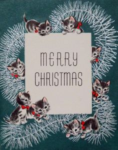 Vintage Holidays   Vintage Christmas card