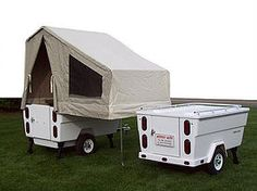 The Mini Mate Camper dramatically increases the fun and freedom of motorcycle touring! See why the Mini Mate pull behind motorcycle camper has been a clear leader in motorcycle camping for over 30 years. Motorcycle Camper Trailer, Pull Behind Motorcycle Trailer, Camper Trailer Tent, Small Camper Trailers, Tiny Camper, Small Trailer, Small Campers, Truck Camper, Camp Trailers