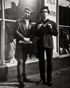 John Lennon and Paul McCartney, Reading, April 1960