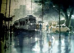 Title         : Rainwashed Kolkata Artist      : Jiaur Rahman ID             : P 09 Medium  : Print On Canvas Size           : 30 x 20 inches Year         : 2005 Shipping  : Rolled / Free Price         : Rs 5500 / $ 100   Get original signature on print and authenticity certificate by the artist