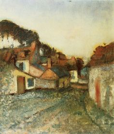Edgar Degas | Village street, 1896-1898