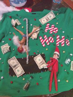 Couple Christmas, Tacky Christmas Party, Christmas Ideas, Christmas Outfits, Christmas Games, Holiday Fun, Christmas Crafts, Homemade Ugly Christmas Sweater, Diy Ugly Christmas Sweater