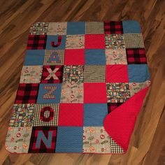 Baby Quilt Handmade Personalized  Minky Baby by ApplejaxQuilts