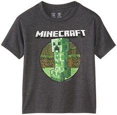 Minecraft - Camiseta de manga corta - para niño gris oscuro niños: M #camiseta #friki #moda #regalo