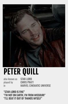 Peter Quill Polaroid Poster