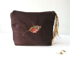 Bag in bag silk falling leafs by BagsByTravelher on Etsy, $35.00