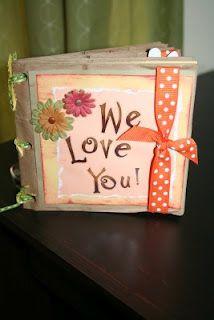 Amy & Jeff: crafts. paper bag album                                                                                                                                                                                 More