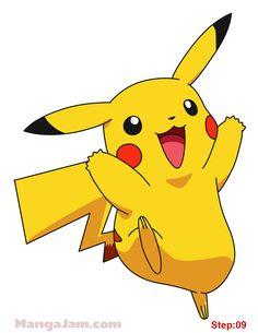 How to Draw Pikachu from Pokemon step 09