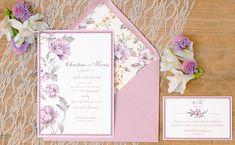 Invitaciones de boda románticas con flores: Praga. www.azulsahara.com #invitaciones #wedding #stationery
