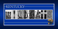 Kentucky Wildcats alphabetography photo collage print. $30.00, via Etsy.