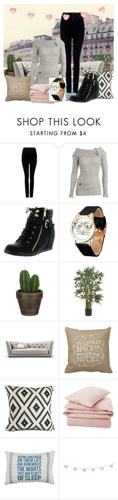 """""""my cousin did this"""" by sunshinekg ❤ liked on Polyvore featuring Citizens of Humanity, Wet Seal, Top Moda, John Lewis, Lexington and Ladybird"""