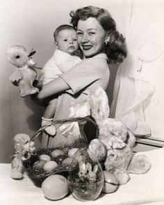 Gloria Grahame with her son Timothy Ray