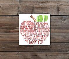 Teacher Appreciation gift Thank you Teacher Apple printable digital instant download apple word cloud