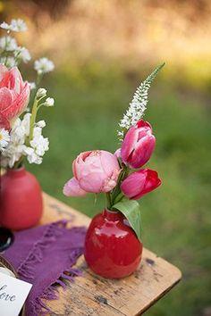sweet tulips and peony