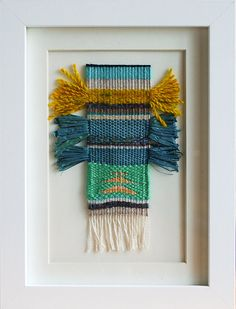 Original Framed Weaving Mustaches by AFiberCircus on Etsy, $50.00