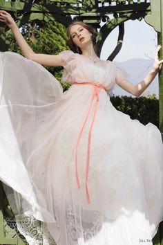 Jill Stuart Wedding Dresses 2012 ~ Soft Pink Wedding Gown ~  Ruffle Sleeves ♥˛**. ˛*.。'˛*