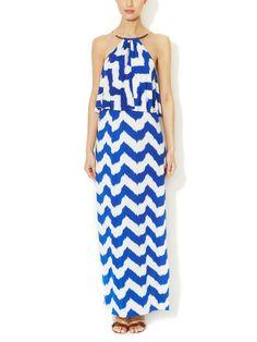 Jersey Chevron Maxi Dress