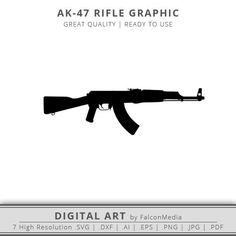 This item is unavailable Ak 47, Silhouette Cameo, Boat Silhouette, Ski Mask Tattoo, Camo Cookies, Black Tattoos, Small Tattoos, Ak47 Tattoo, Pallet Ideas
