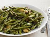 charred green beans: garlic, olive oil, tarragon, mustard... yum!