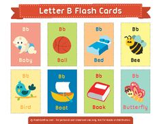 Free Printable Letter B Flash Cards English Activities, Kids Learning Activities, Learning English For Kids, Teaching English, Fun Worksheets, Kindergarten Math Worksheets, Word Games For Kids, Letter Flashcards, Abc Phonics