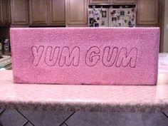 Yum Yum Bubble Gum* Candy Land Photo Prop.  Styrofoam bubble gum!